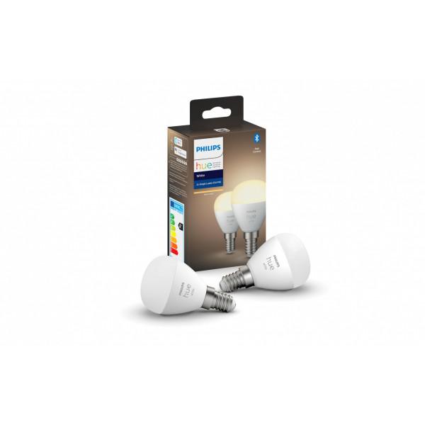 Philips Hue Leuchtmittel White Luster E14, Bluetooth 2 Stück