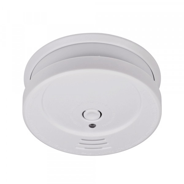Smoke detector with replaceable battery