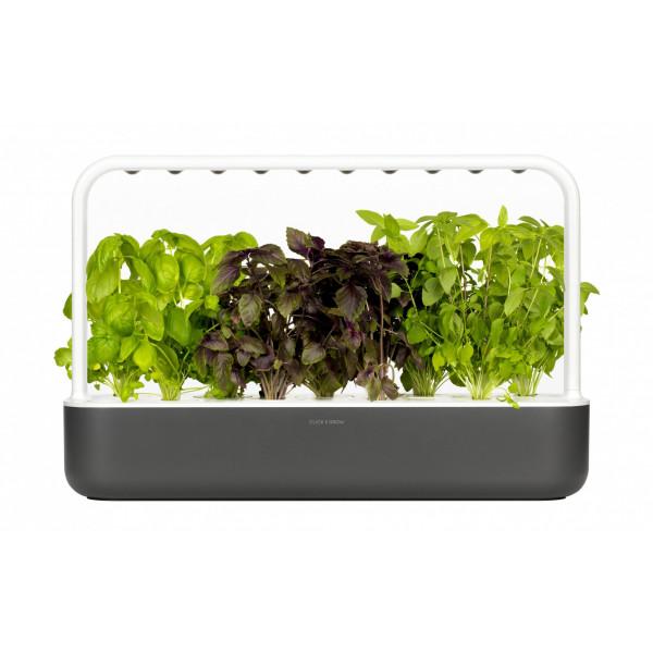 Click and Grow Kräutertopf Smart Garden 9 Dunkelgrau
