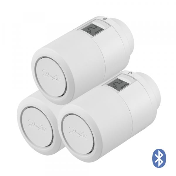 Radiator thermostat Danfoss Eco HOME Bluetooth, set of 3